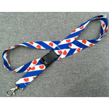 Promotion Polyester Multi-Color Dye Sublimation/Heat Transfer Logo Lanyard